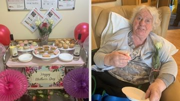 Mother's Day at Manchester care home